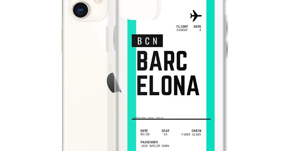 Barcelona Boarding Pass iPhone Case