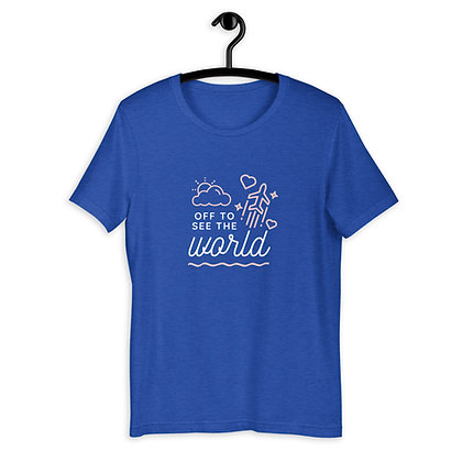 'Off To See The World' Short-Sleeve Unisex T-Shirt