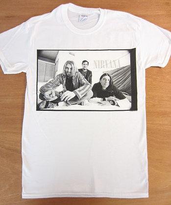 "Nirvana"" Black and White Photo T-Shirt"