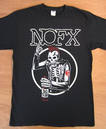 """NOFX"""" 30 Years Mohawk Skeleton T-Shirt"""