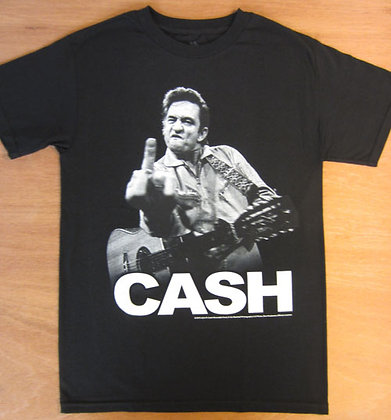 "Johnny Cash"" Flipping the Bird T-Shirt"