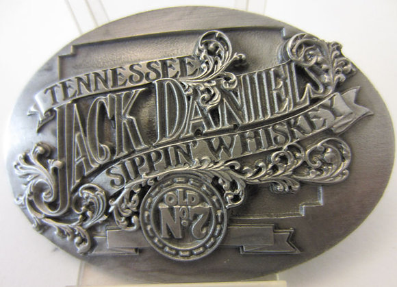 Jack Daniel's 'Sippin Whiskey' Oval Buckle