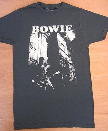 David Bowie Leaning w/ Guitar T-Shirt