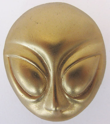 Gold Alien Head Buckle