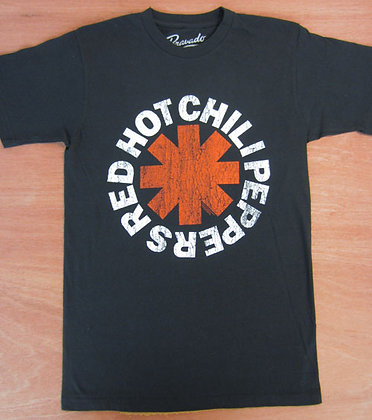 "Red Hot Chili Peppers"" Logo T-Shirt- Black"