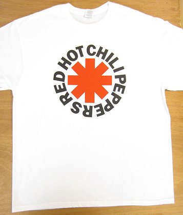 "Red Hot Chili Peppers"" Logo T-Shirt- White"