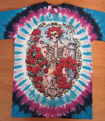 """Grateful Dead"""" Skeleton Tie-Dye T-Shirt"""