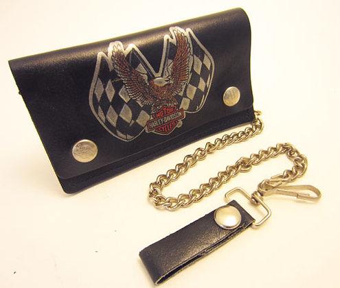 Harley Davidson Black Leather Bi-Fold Wallet