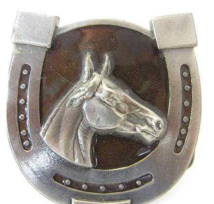 Horseshoe Enamel Buckle