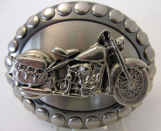 Silver Motorcycle Buckle
