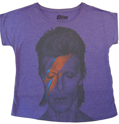 David Bowie Lightning Bolt Loose Fit T-Shirt