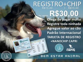 Registro R$30,00