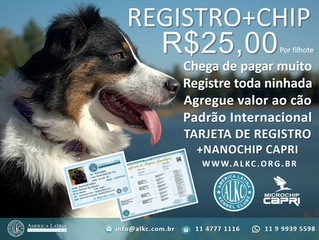 Registro + Microchip = R$25,00