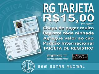 REGISTRO R$15,00