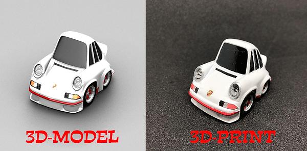 3Dプリント デフォルメ ポルシェ911