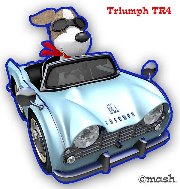 デフォルメカーのTR4とワンコくん