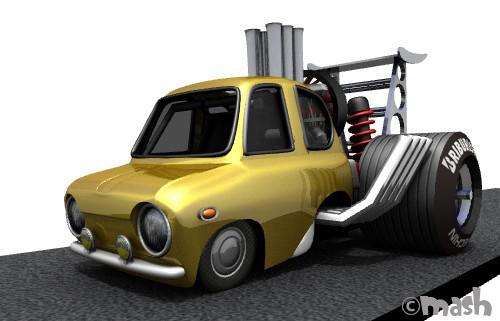 3Dプリント スバルR-2 SS ドラッグモンスター