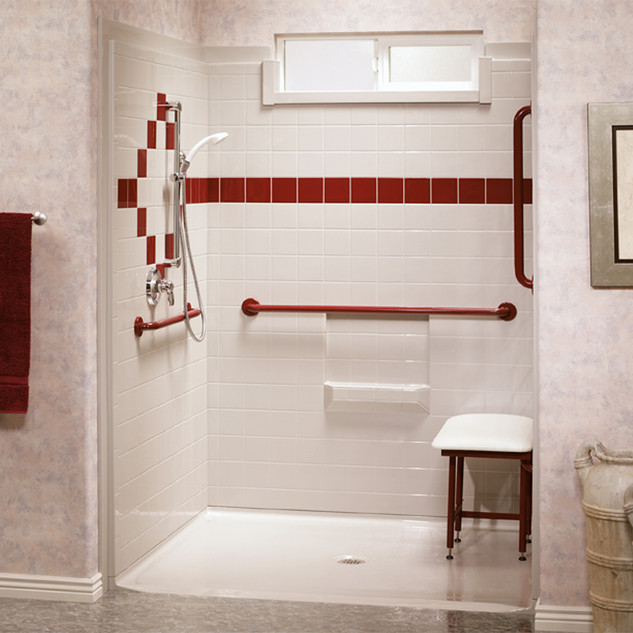Best Bath Systems - White Barrier Free Shower