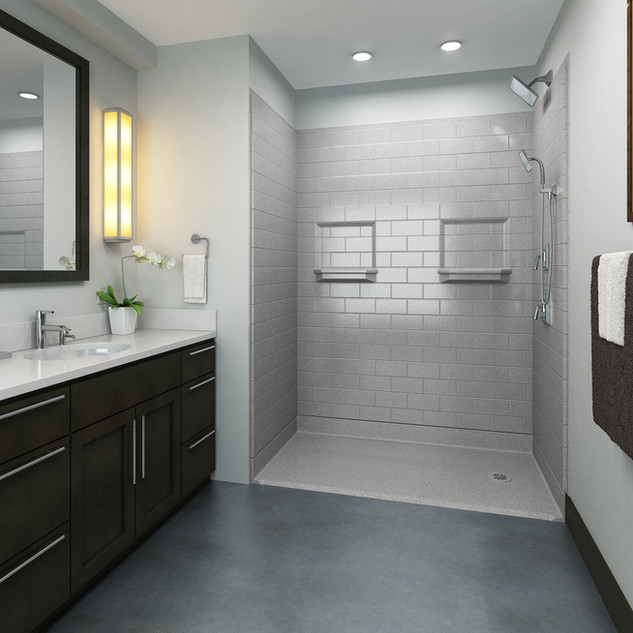 Accessible Shower - Built In Soap Dishes