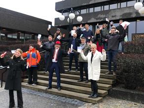 1,4 mill i støtte til 15 lokale bedrifter i Asker