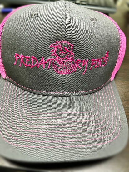 Pink and Gray Trucker style Predstory Fins Hat