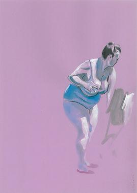 Bagnante in viola 25 cm x 35 cm, ink  2020
