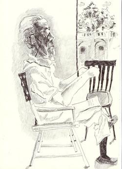 #lindarandazzo ritratto del Principe Francesco Alliata di Villafranca, penna su carta 2012