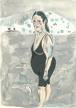 Maddalena, 25 cm x 35 cm, ink on paper 2020