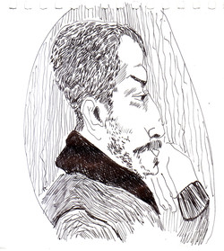 #lindarandazzo Filippo Giuffrè penna su carta