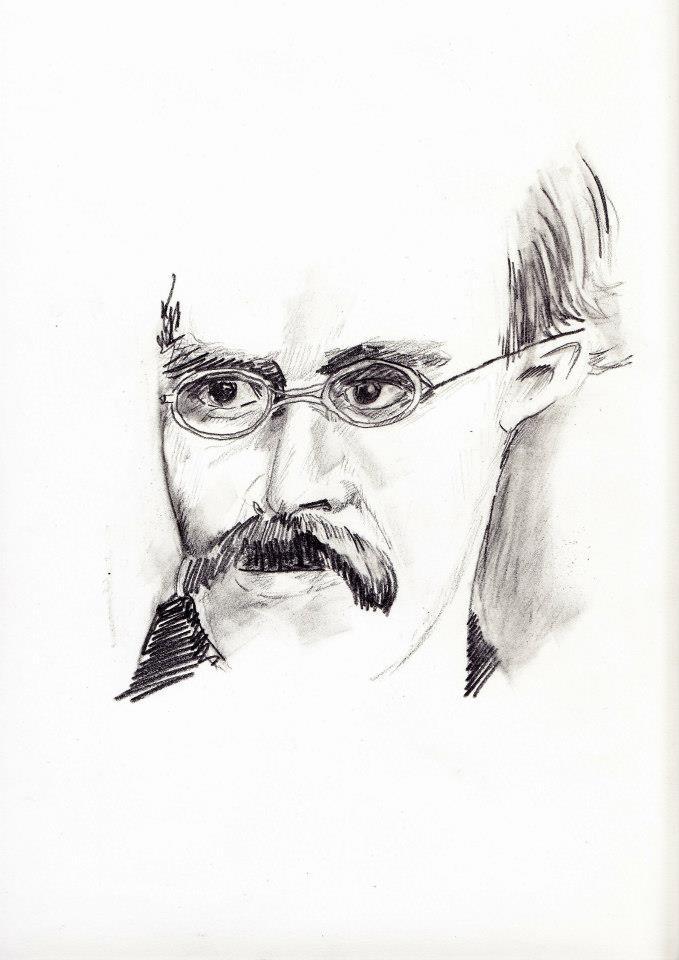 #lindarandazzo ritratto di Friedrich Wilhelm Nietzsche matita su carta 2013
