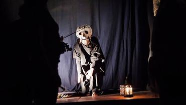 """135866139_102220photo Valentina Glorioso #lindarandazzo Performer Stage and costume designer for """"E siamo Luce"""" by Marco Russo di Chiara's performance of clear, Sonia Burgarello, Alessandro Librio, Linda Randazzo, edited by: Antonio Presti Foundation, rite of light, Teatro alla Guilla Palermo 2014"""