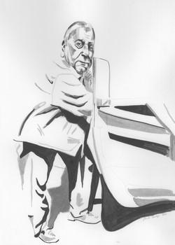 FISCHERMAN 1, 25 cm x 53 cm, ink, 2020