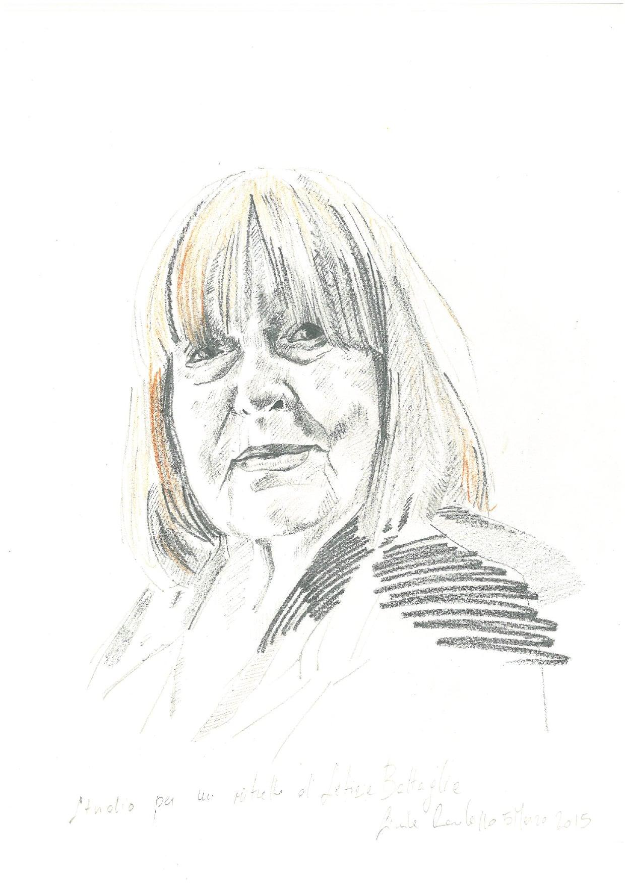 #lindarandazzo studio per un ritratto di Letizia Battaglia matite su carta 2015