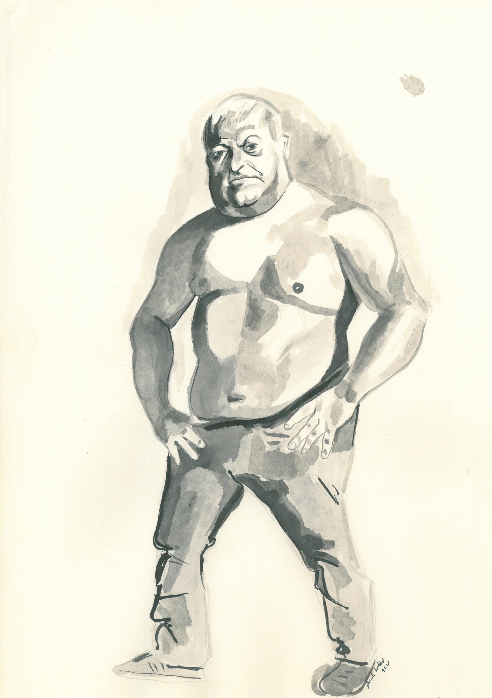 MAN, 25 cm x 53 cm, ink, 2020