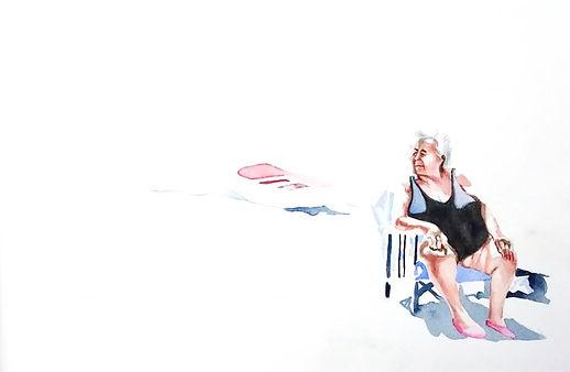 linda randazzo, Nonna,watercolor 29,7 cm x 42,0 cm 2020