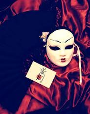 #lindarandazzo Japanese Mask created by Linda Randazzo.(dance performance by Linda Randdazzo). GATE PARTY 2013