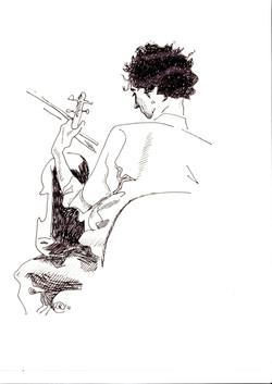 #lindarandazzo Alessandro Librio realizzato durante un concerto organizzato da Curva Minore - contem