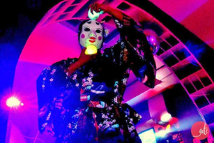 #lindarandazzo Japanese Mask created by Linda Randazzo.(dance performance by Linda Randdazzo). GATE PARTY 2013