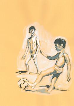 SUPERSANTOS, 25 cm x 35 cm, ink on paper 2020