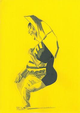 Ombrello, 25 cm x 35 cm, ink on paper 2020