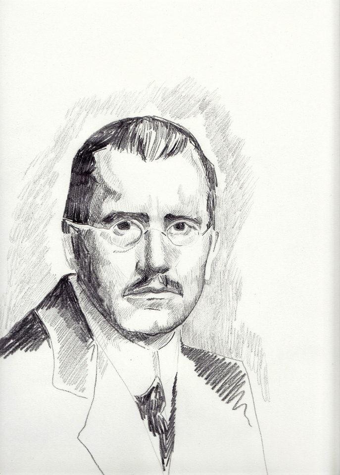#lindarandazzo ritratto di Carl Gustav Jung, matita su carta 2013