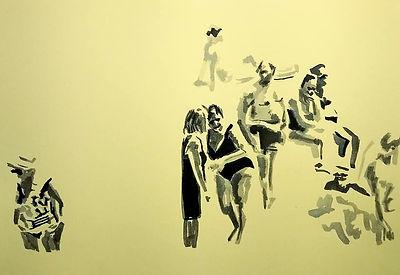 Lo scoglio giallo, 25 cm x 35 cm, ink, 2019