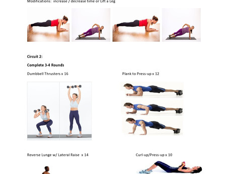 Quickie Shoulder and Core Workout