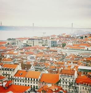 Vista para a ponte 25 de Abril/Lisboa