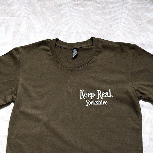 Keep Real Army Green Yorkshire Tee