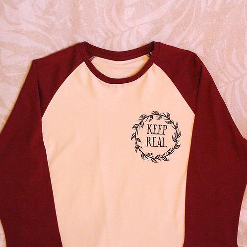 Baseball Shirt Maroon/Vintage White
