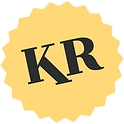KR initials in yellow