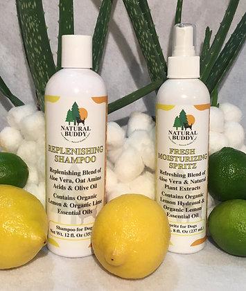 Replenishing Shampoo and Fresh Moisturizing Spritz