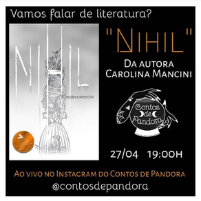 """LIVE Literária: """"Nihil"""""""