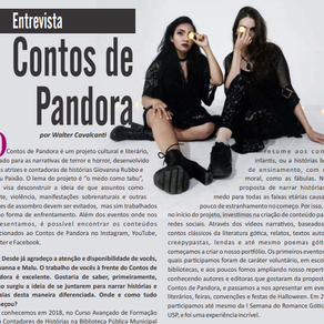 Entrevista do Contos de Pandora para a Revista Vila das Palavras